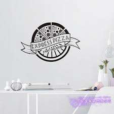 Pizza Sticker Food Decal Poster Vinyl Art Wall Decals Pegatina Quadro Parede Decor Mural Pizza Sticker Wall Stickers Aliexpress