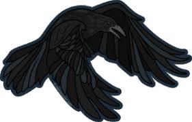 Kaleidoscope Landing Raven Sticker Heart Sticker Company