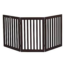 Bonnlo Freestanding Pet Gate 3 Panels Foldable Cat Dog Fences Barrier For Indoor Doorway Stairs Fully Assembled Wooden 61 Inch Width 30 Inch Height Espresso Buy Products Online With Ubuy