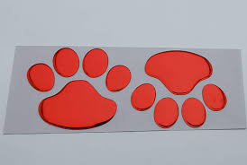 Amazon Com 2 Pairs Of Metal 3d Bear Dog Cat Animal Paw Foot Print Car Window Bumper Body Decal Sticker Silver Automotive