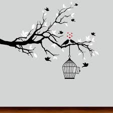 Wall Decal Black And White Tree Branch Diy Wall Painting Wall Painting Decor Wall Drawing