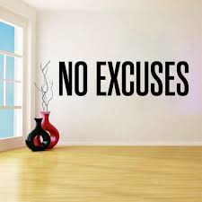 No Excuses Decor Self Motivation Quote Gym Vinyl Decal Workout Fitness Wall Sticker Sport Home Gym Interior Wall Art Muralqq1003 Wall Stickers Aliexpress
