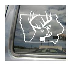 Iowa Deer Hunter Hunting Buck Outdoor Car Auto Window Vinyl Decal Sticker 01220 Ebay