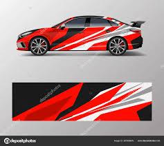 Wrap Design Custom Sport Car Sport Racing Car Wrap Decal Stock Vector C Oriu007 381805670