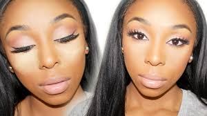 black makeup tutorial for contouring