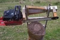 homemade swing blade sawmill