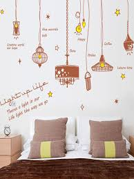Kid S Room Decorative Sticker Pendant Lamp Pattern Adhesive Wall Sticker Material Pvc Online At Sticker Decor Wall Stickers Living Room Bedroom Wall Paint