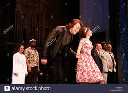 Daniel Rigby Claire Lams and cast Broadway opening night of 'One ...