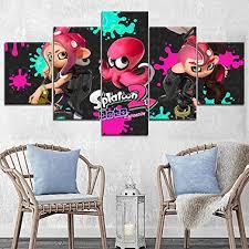 Amazon Com Igzaker Splatoon 2 Game Painting Modern Decorative Wall Artwork Picture Children Room One Set Canvas Print Modular Poster 30x40 30x60 30x80cm No Frame Posters Prints