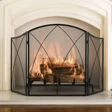 arched diamond fireplace mesh screen
