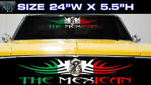 1 Mexican Mexico Flag Racing Car Decal Vinyl Sticker The Mexican Ebay