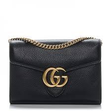 gucci calfskin gg marmont chain wallet