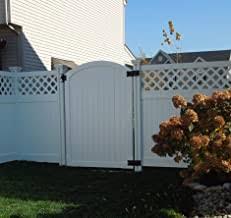 Amazon Com Vinyl Fence Gate