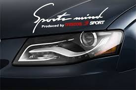 Sports Mind Produced By Mazda 3 Sport Decal Sticker Emblem Logo White Sports Decals Emblem Logo Decals Stickers
