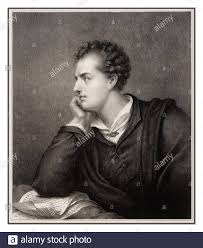 BYRON Archive lithograph etching c1885 Lord Byron. George Gordon Byron, 6th  Baron Byron, known simply as Lord Byron. He was a renowned English poet and  a leading figure in the 1800's Romantic