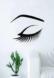 Eye And Eyebrow Wall Decal Decor Decoration Vinyl Sticker Art Etsy