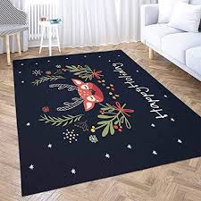 Amazon Com Outdoor Area Rug Shorping 5x7 Area Rug Red Area Farmhouse Rug Deer Head Cute Deer The Flowers Happy Holiday Kids Rugs Modern Area Rugs For Bedroom Cute Area Rug Kitchen