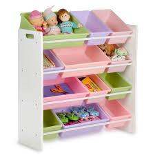 Honey Can Do 36 In H X 33 In W X 13 In D Pastel Colors Plastic 12 Cube Storage Organizer Srt 01603 The Home Depot