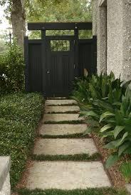 asian inspired gate side garden