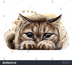 Cat Wall Sticker Graphic Color Artistic Stock Vector Royalty Free 1372626002