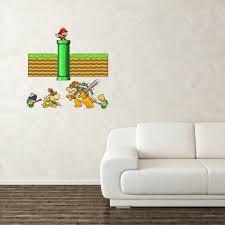 Super Mario Parody Wall Sticker Mario Bowser Bowser Jr And Koopa Troopa Funny Super Mario Parody High Quality Wall Sticker Ref 469