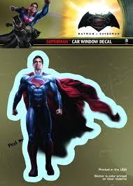 Batman Vs Superman Superman Dc Comics Car Window Decal