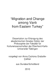 pdf phd thesis migration and change among vanli from eastern