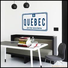Canada Wall Decal Quebec Car Plate With Je Me Etsy