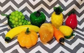 murano style decorative art glass fruit