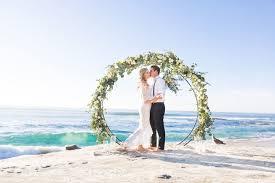 unique beach wedding ceremony arches