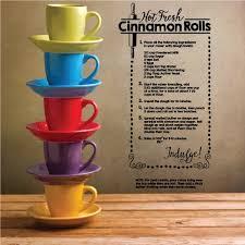 Hot Fresh Cinnamon Rolls Kitchen Recipe Quote Wall Decal Vinyl Decal Car Decal Vd004 36 Inches Walmart Com Walmart Com