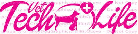 Vet Tech Life Veterinarian Vinyl Decal Sticker Technician Pet Doctor Lilbitolove On Artfire