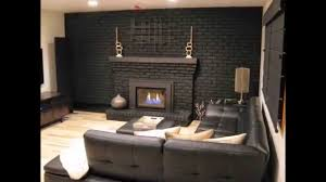 new painted brick fireplace remodel