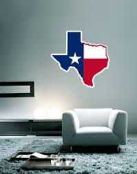 Texas State Map Flag Wall Decal Large Vinyl Sticker 23 X 22 Ebay