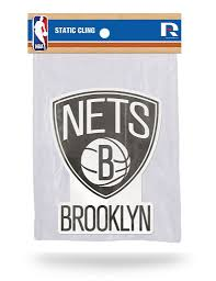 Rico Nba Brooklyn Nets Shape Cut Static Cling Auto Decal Car Sticker M Sportzzone