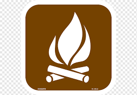 Sticker Campfire Decal Camping Symbol Campfire White Logo Tent Png Pngwing