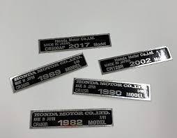 Honda Cr Vin Plate Decal Sticker Frame Badge Super Evo Exact Oem Style Chrome Ebay