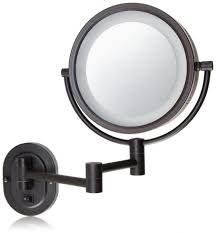 wall magnifying bathroom mirror with