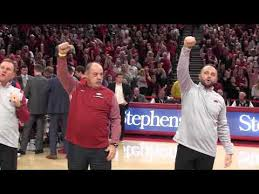 Chad Morris and the Arkansas football coaching staff introduced at Bud  Walton Arena - YouTube