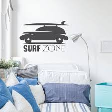 Surfing Wall Decor Surf Zone Car Wall Decals For Home Customvinyldecor Com