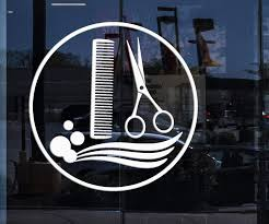 Window Sign And Wall Stickers Vinyl Decal Hair Salon Stylist Barber To Wallstickers4you