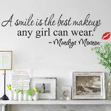 A Smile Is The Best Makeup Any Girl Can Wear Marilyn Monroe Quote Removable Pvc Wall Decal Sticker Buy At A Low Prices On Joom E Commerce Platform