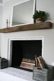 rustic beam as a mantel