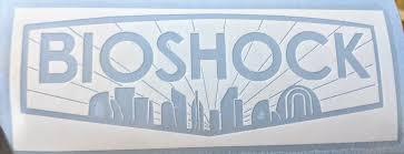 Detailed Bioshock Inspired Logo With Rapture Sil Vinyl Decal For Car Home Electronics Bioshock Vinyl Decals Custom Vinyl