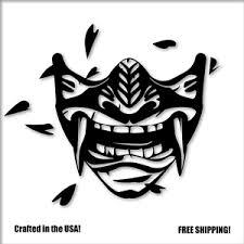 Oni Samurai Mask Vinyl Decal Sticker Car Truck Window Japan Jdm Racing Laptop Ebay