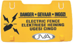 Econo Abs Wall Top Warning Sign Free Custom Printing 100 Stafix Electric Fence Centres