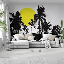 Palm Tree Wall Decals White Target Black Art Vinyl Large Uk Vamosrayos