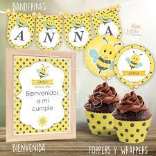 Kit Imprimible Abejita Cumpleanos 1 Anito Bautismo Nena Nene 390 00 En Mercado Libre