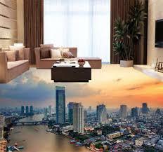 bangkok city thailand 3d floor mural