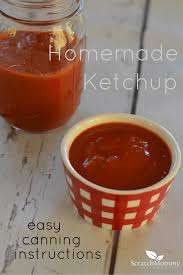 healthy homemade ketchup recipe with